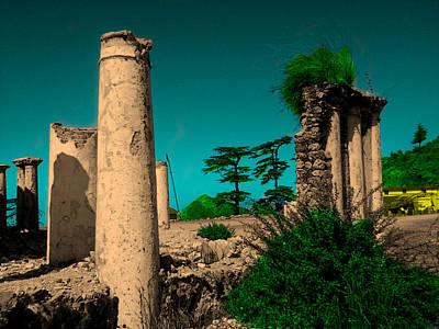 Khan Mixed Media - Colourful Ruins by Salman Ravish