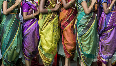 Hinduism Photograph - Colourful Sari Pattern by Tim Gainey