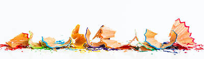 Photograph - Colourful Shavings by Gary Gillette