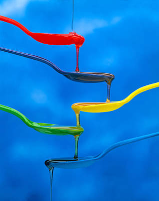 Photograph - Colourful Spoons Abstract by Utah Images