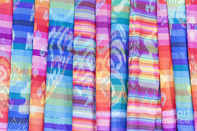 Foulard Photograph - Colourful Textiles  by Roberto Morgenthaler