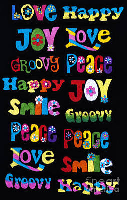 Positivity Photograph - Colourful Words by Tim Gainey