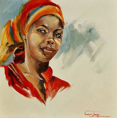 Colourful Young Woman Original