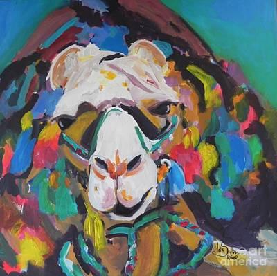 Colourfull Painting - Colourfull Camel by Jolanta Shiloni