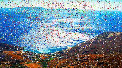 Digital Art - Colourfull Starry Landscape by Augusta Stylianou