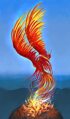 Colours Of Fire Print by Katerina Romanova