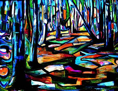 Colourfull Painting - Colourwood by Per  Fjord