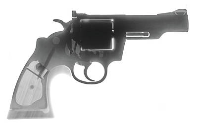 Colt 357 Magnum X Ray Photograph Art Print