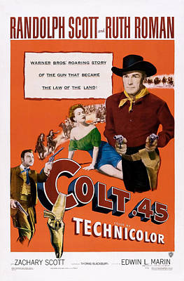 Colt .45, Us Poster, From Left Zachary Art Print by Everett