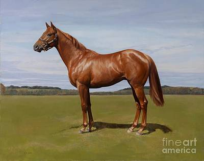 Chestnut Horse Painting - Colt by Emma Kennaway