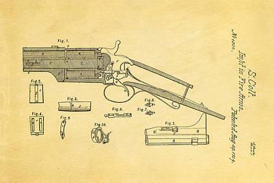 Colt Pistol Patent Art 1839 Print by Ian Monk