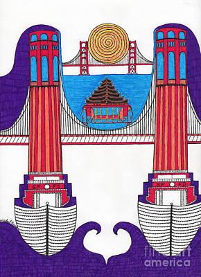 Colt Tower On San Francisco Bay Art Print by Michael Friend