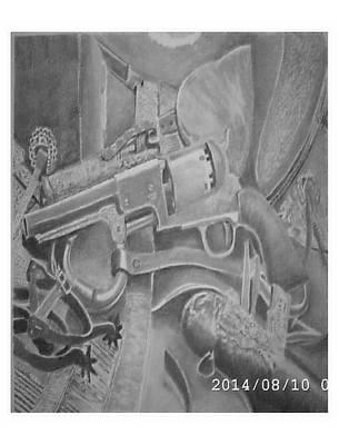 Colt 45 Drawing - Colt Walker  by Charles Impavido
