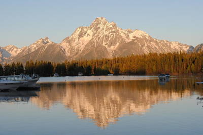 Photograph - Colter Bay Sunrise by Robert  Moss