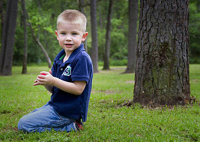 Photograph - Coltin In Park by Tom Zachman