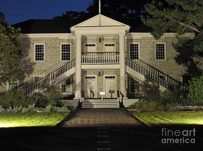 Photograph - Colton Hall At Night by James B Toy