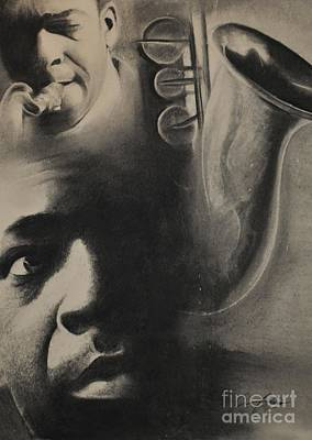 Emerging Artist Drawing - Coltrane by Adrian Pickett