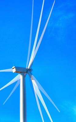 Jerry Sodorff Royalty-Free and Rights-Managed Images - Columbia Gorge Wind Turbine 16762 by Jerry Sodorff