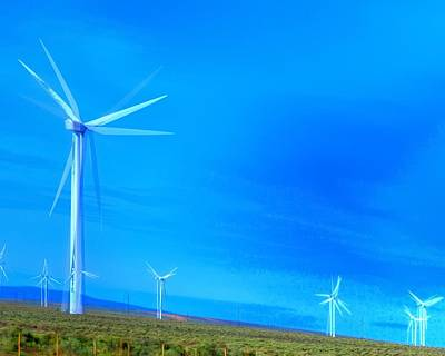 Jerry Sodorff Royalty-Free and Rights-Managed Images - Columbia Gorge Wind Turbines 16516 by Jerry Sodorff