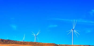 Jerry Sodorff Royalty-Free and Rights-Managed Images - Columbia Gorge Wind Turbines 16783 by Jerry Sodorff