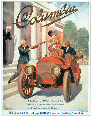 Photograph - Columbia Motor Car Company by Vintage Automobile Ads and Posters