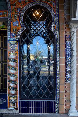 Photograph - Columbia Restaurant Entryway Window. by Judy Wanamaker