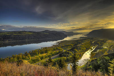 Sky Photograph - Columbia River Gorge At Sunrise by David Gn