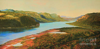 Matte Painting - Columbia River Gorge by Jeanette French