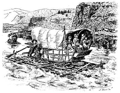 Columbia River Art Print by Granger