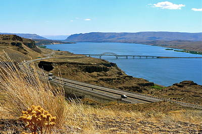 Photograph - Columbia River Vantage Point by Jean Wright