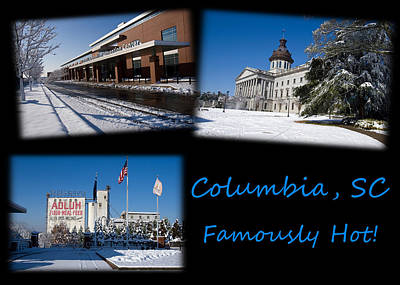 Photograph - Columbia South Carolina Famously Hot Blue On Black by Joseph C Hinson Photography