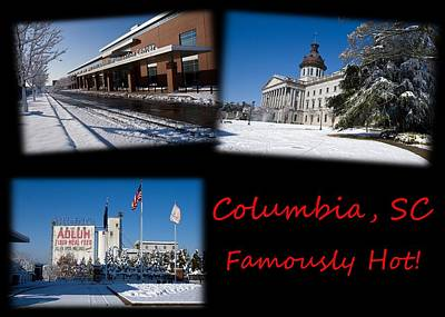 Photograph - Columbia South Carolina Famously Hot Red Black by Joseph C Hinson Photography