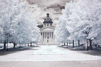 Columbia South Carolina Infrared Landscape  Art Print by Kathy Fornal