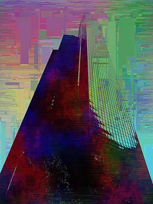 Digital Art - Columbia Tower Cubed 1 by Tim Allen