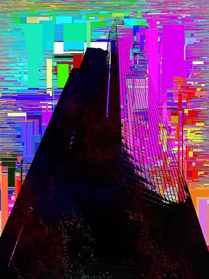 Digital Art - Columbia Tower Cubed 2 by Tim Allen