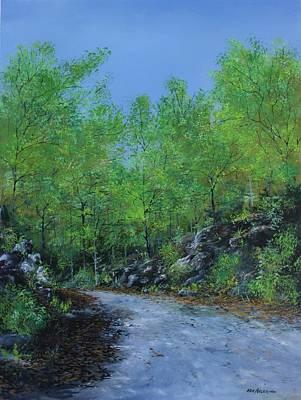 Columbia Trail Art Print by Ken Ahlering