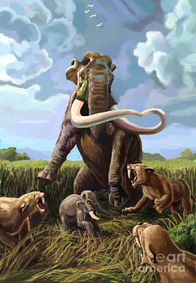 Photograph - Columbian Mammoth And Saber-toothed Cats by Spencer Sutton