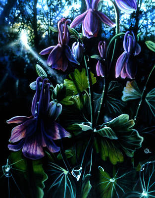 Painting - Columbine In The Woods by Lynette Yencho