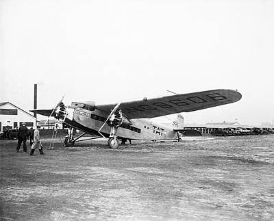Ford Trimotor Photograph - Columbus Airplane by Library Of Congress