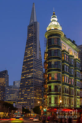 Columbus And Transamerica Buildings Art Print by Jerry Fornarotto