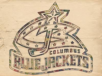 Nhl Painting - Columbus Blue Jackets Poster Art by Florian Rodarte