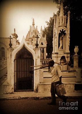 Artist Working Photograph - Columbus Cemetary Havana by John Malone