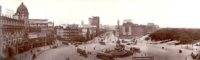 1907 Digital Art - Columbus Circle New York 1907 by Unknown