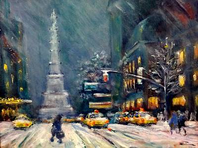 Painting - Columbus Circle Nyc by Philip Corley