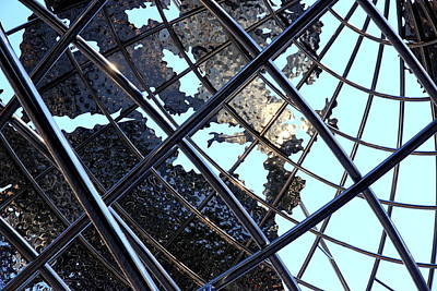 Photograph - Columbus Circle Steel Globe by Valentino Visentini