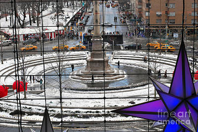 Columbus Circle View Art Print
