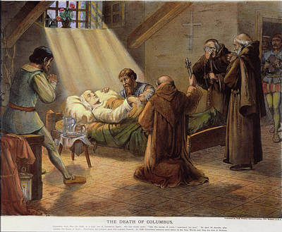 1506 Painting - Columbus Deathbed, 1506 by Granger