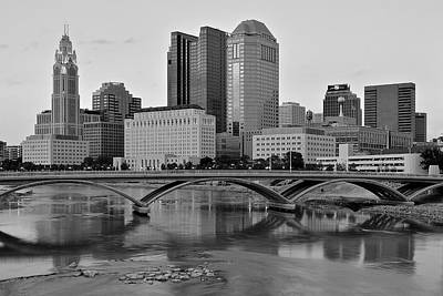 Black Commerce Photograph - Columbus In Classic Black And White by Frozen in Time Fine Art Photography