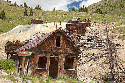 Photograph - Columbus Mine Assay Building At Animas Forks by Fred Stearns