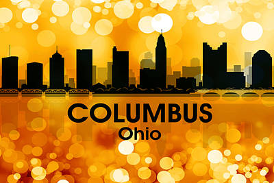 Columbus Oh 3 Art Print by Angelina Vick